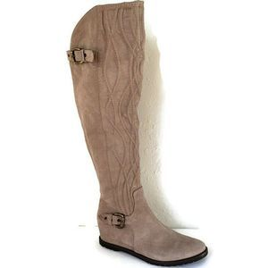 Napoleoni  Leather Hidden Wedge Tall Riding Boots